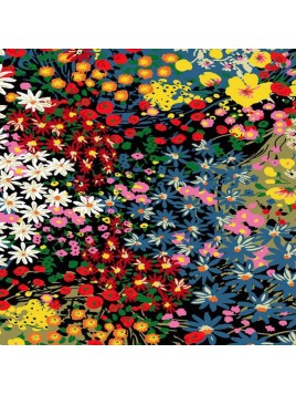 Viscose imprimée fleur