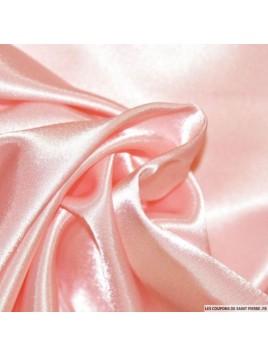 Satin Uni Rose Pâle