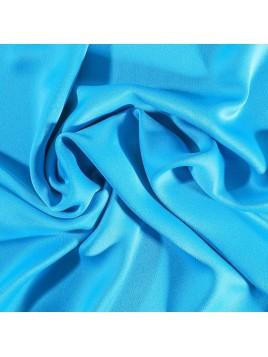 Crêpe Satin Bleu Turquoise